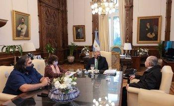 Alberto Fernández recibió a Yasky, Alesso y Baradel | Casa rosada