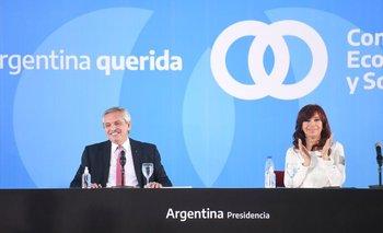 "Alberto Fernández, junto a Cristina Kirchner: ""El día 100 ha llegado"" | Casa rosada"