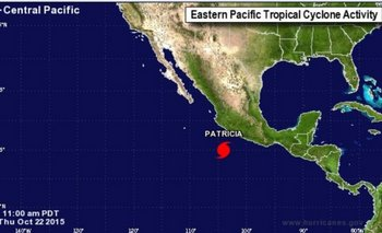 El huracán Patricia, a punto de llegar a la costa de México   Huracán patricia