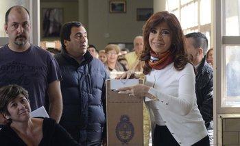 """Hoy estamos votando en un país normal"", dijo Cristina y anticipó que seguirá ""militando"" | Néstor kirchner"