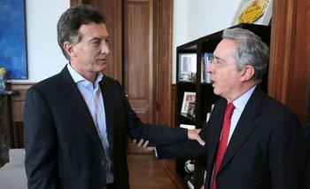 """La confesión de Álvaro Uribe: """"Me dolió ver a Macri apoyando el acuerdo de paz""""   Farc"""