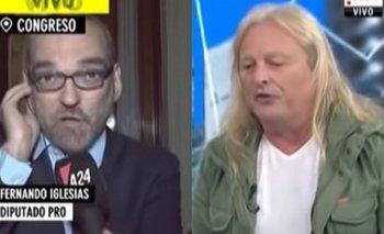Tenso cruce entre Fernando Iglesias y el Pollo Sobrero en vivo por el Presupuesto   Rubén pollo sobrero