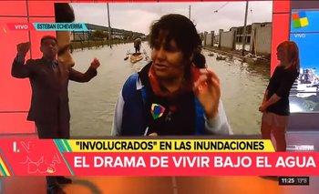 Iúdica pidió música emotiva en medio de un móvil con inundados | Mariano iúdica