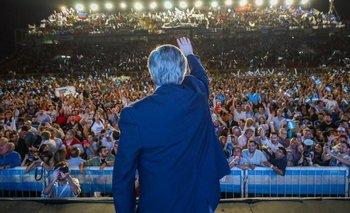 """Alberto Fernández: """"Con la plata que le dedican a los bancos, vamos a levantar la Argentina""""   Elecciones 2019"""