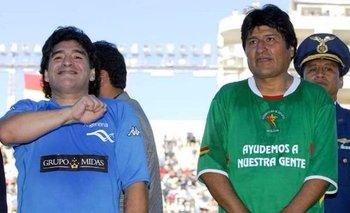 Diego Maradona felicitó a Evo Morales por el triunfo en Bolivia | Elecciones en bolivia