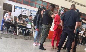 Insólito: fue disfrazado como el Guasón a votar y fue furor en las redes | Elecciones 2019