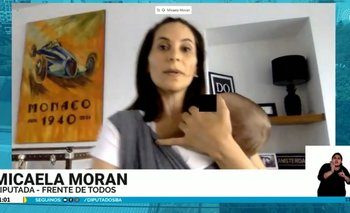 Tierna imagen: una diputada habló con su hijo en brazos en plena sesión   En redes