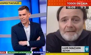 Luis Machín enfureció en una entrevista y un periodista lo echó | #atr