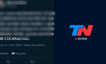 """Cobardes, subcucarachas"": grave insulto de periodista de TN en redes | Televisión"