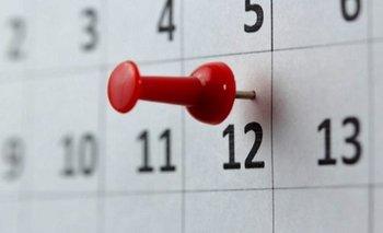 El gobierno estableció cuáles serán los feriados 2021  | Feriados