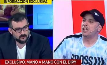 Un periodista dejó expuesto a El Dipy y casi se pelean al aire   Televisión