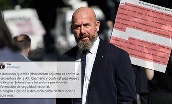 Wolff miente: qué dice su denuncia penal contra El Destape | Espionaje ilegal