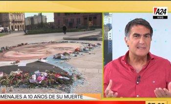 El enojo de Antonio Laje por el mural de Kirchner en Plaza de Mayo   Antonio laje
