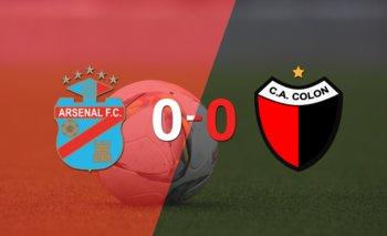 Cero a cero terminó el partido entre Arsenal y Colón | Argentina - liga profesional 2021