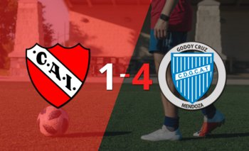 De visitante, Godoy Cruz goleó a Independiente con un contundente 4 a 1 | Argentina - liga profesional 2021
