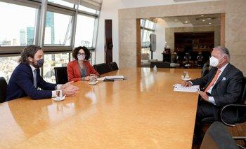 Cafiero y Todesca se reunieron con el presidente de la UIA   Uia