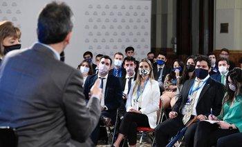 Sergio Massa se reunió en el Congreso con jóvenes de todo el país | Cámara de diputados