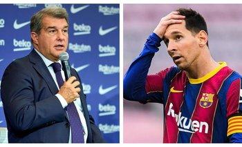 Insólito fallido del presidente del Barcelona al nombrar a Messi | Fútbol