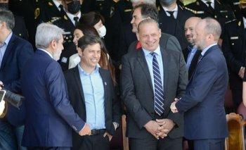 Berni se mostró con Kicillof nuevamente en la jura de los nuevos policías | Policía bonaerense