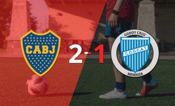 Boca Juniors le ganó a Godoy Cruz en su casa por 2-1   Argentina - liga profesional 2021