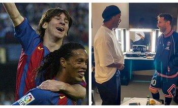 ¿Qué pasó en el reencuentro entre Messi y Ronaldinho en el PSG? | Fútbol