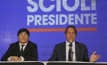 """Scioli: """"Los que están cambiando de posición son ellos""""   Daniel scioli"""