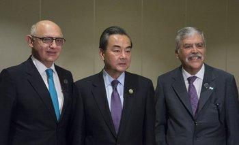 Timerman y De Vido se reunieron con el canciller de China | Acuerdos con china