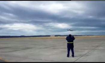 El impactante vuelo rasante del Tango 01 en Río Gallegos   Videos y datos