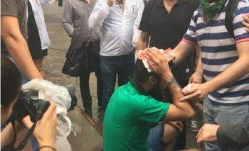 Represión en la Legislatura porteña cuando se trata el proyecto de la UNICABA | Ciudad