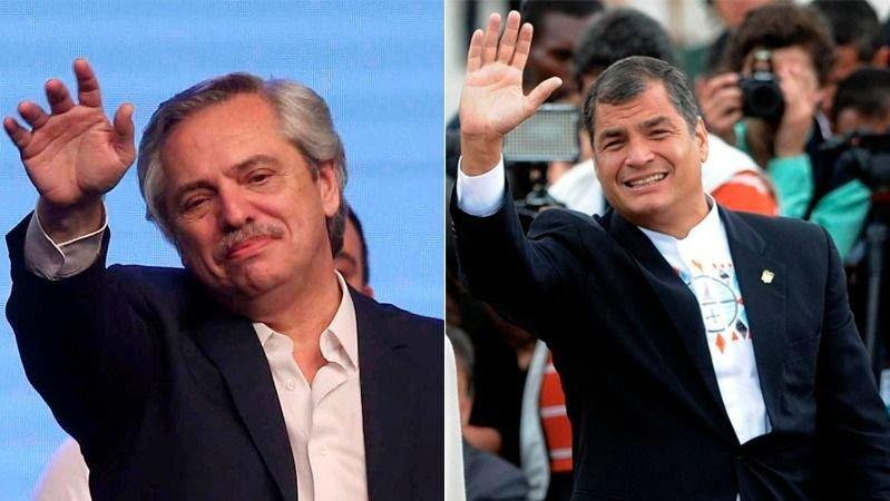 Fernández en México defendió a Correa, Lula da Silva y Cristina Kirchner