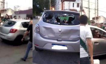 Violento ataque de hinchas de Banfield a familia de Lanús | Fútbol argentino