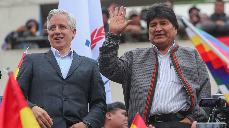 Álvaro García Linera e Evo Morales.