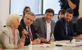 Antes de presentar gabinete, Alberto agradeció a Tinelli y Galperín | Alberto fernández