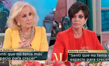 Mónica Gutierrez se quebró al hablar de su renuncia a América | La noche de mirtha
