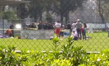Entraron a los tiros en pleno partido de fútbol | Santa fe
