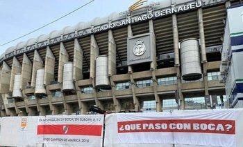 La burla de hinchas de River a Boca en el Bernabéu | Superfinal