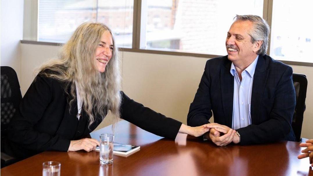 La cantante Patti Smith se reunió con Alberto Fernández