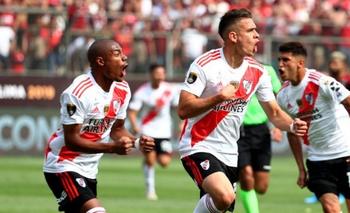 Reviví el gol de Borré para el 1 a 0 frente a Flamengo | Cantalo, cantalo, cantalo