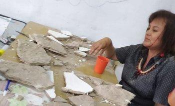 Se derrumbó el techo de una escuela en la Provincia  | Paro docente