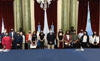 Programa de Empleo Trans: Sergio Massa y Diputados recibieron al primer ingreso | Congreso