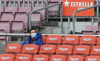 Alarma en la Selección: Messi fue suplente en el partido del Barcelona   Lionel messi