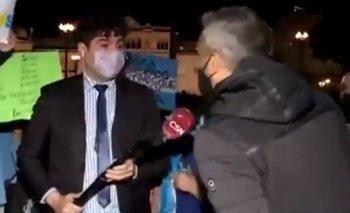 Manifestantes macristas agredieron a un periodista de C5N | Juntos por el cambio