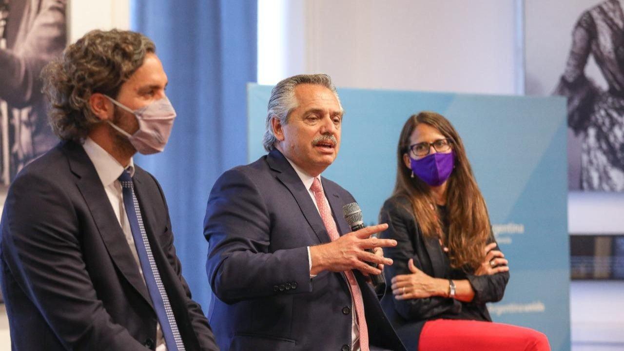 Alberto Fernández homenajeó a César Cigliutti