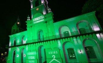 El Cabildo se puso verde para pedir por el aborto legal | Aborto legal