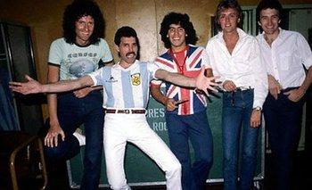 El día que Diego Maradona rockeó junto a Freddie Mercury y Queen | Música
