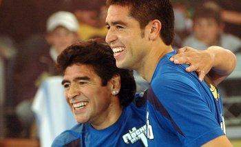 La reacción de Riquelme al enterarse de la muerte de Diego Maradona   Fútbol
