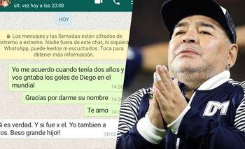 Tras 10 años, padre e hijo se reencontraron para llorar a Maradona | Diego maradona