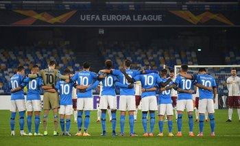 El detalle en el partido del Napoli mientras velaban a Maradona | Murió diego maradona