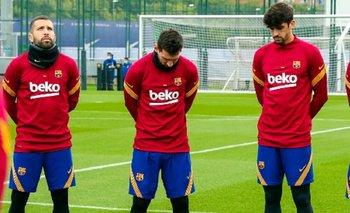La imagen de Messi en el minuto de silencio por la muerte de Maradona | Murió diego maradona