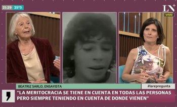Beatriz Sarlo y un comentario discriminador sobre Maradona  | Beatriz sarlo